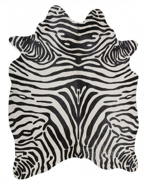 Upholstery Zebra on White