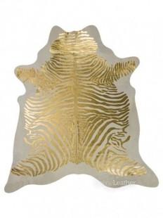 Gold Zebra on White